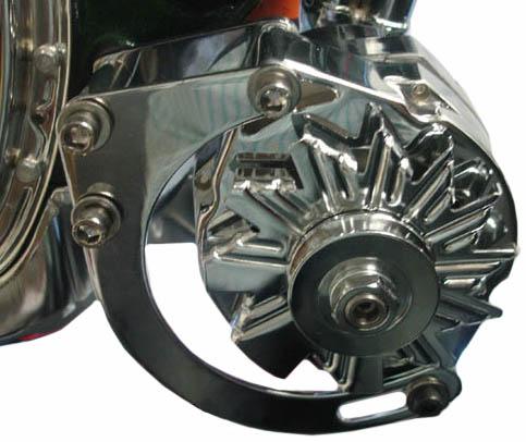 Chrome Chevy Chevrolet Alternator Bracket Short Water Pump