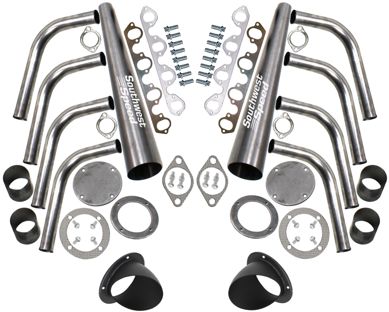 New lake style header kit with turnoutsbbf 429 460ci big block ford drivers side header measurement chart solutioingenieria Gallery