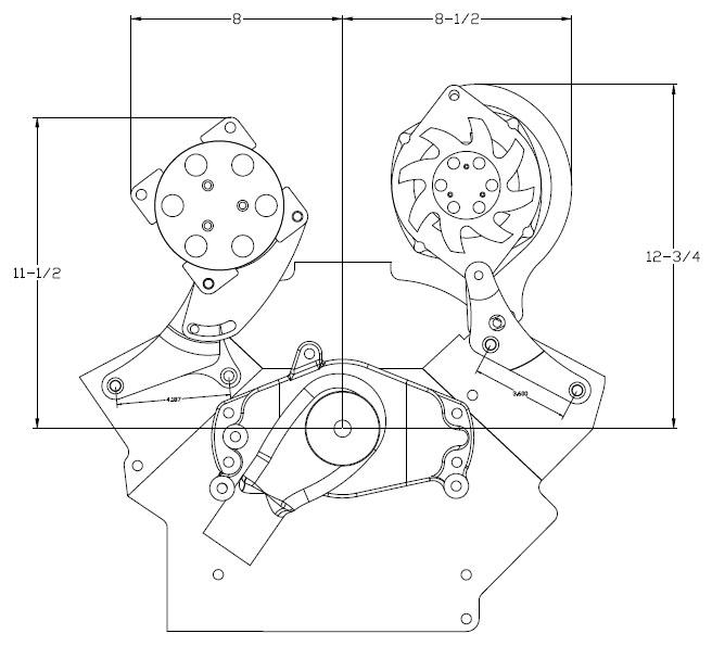 Billet Specialties Polished Alternator Ac Bracketstop Mountsbc