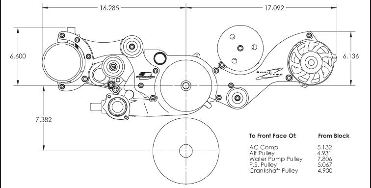 Billet Specialties Sport Trac Chevy Ls Serpentine Engine Kit