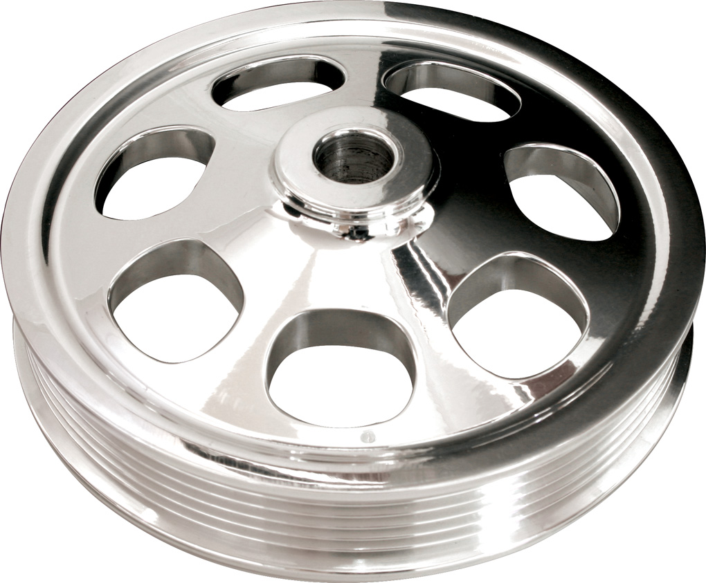 Fits Chevy SB Small Block Polished Aluminum Water Pump Pulley 1 Groove Short