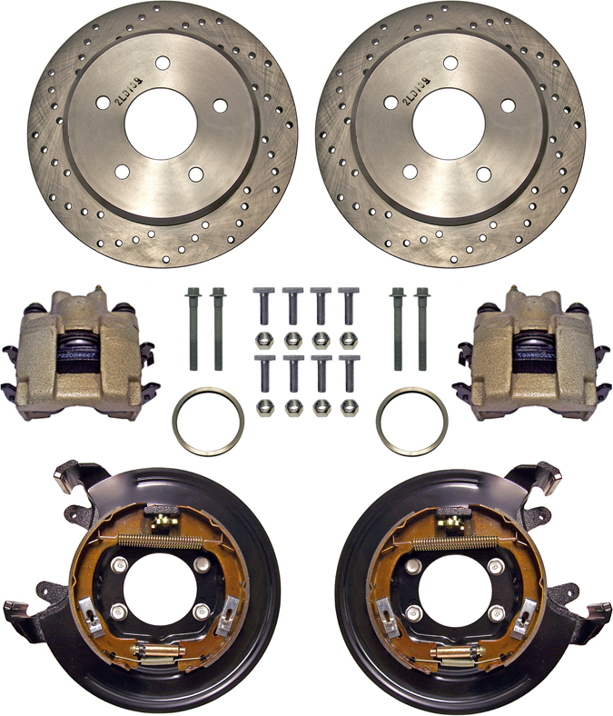 DIRECT REPLACEMENT FOR 1978 /& LATER D154 TYPE STOCK GM METRIC CALIPERS NEW SOUTHWEST SPEED D154 GM METRIC BRAKE CALIPER /& PAD SET WITH EMERGENCY BRAKE ASSEMBLIES