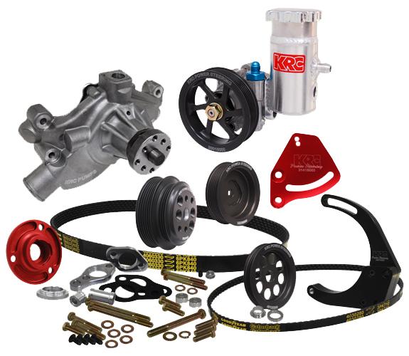 krc power steering pump diagram krc chevy crate serpentine pulley kit w/denso mount kit ... f250 power steering pump diagram