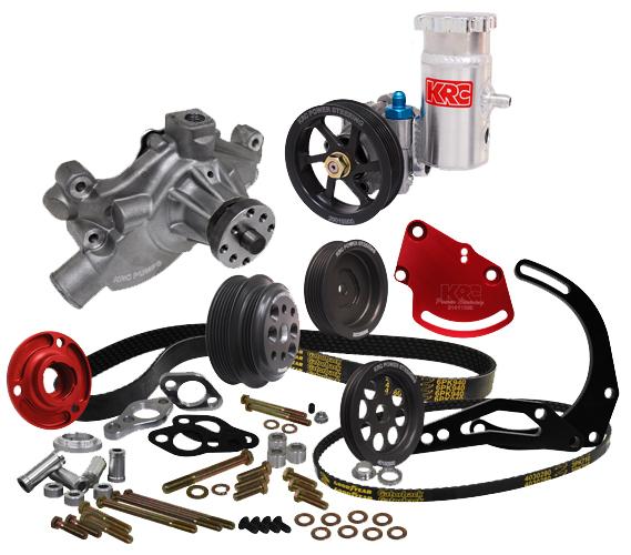 krc power steering pump diagram krc chevy crate serpentine pulley kit w/delco mount kit ...