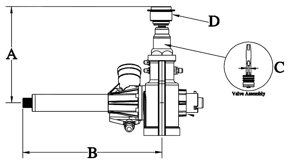 Midget steering unit