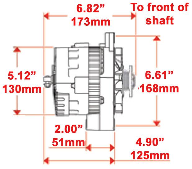 New Powermaster Alternator Chrome Cs130 C Straight Mount 105amp Serpentine Pull  692209001683