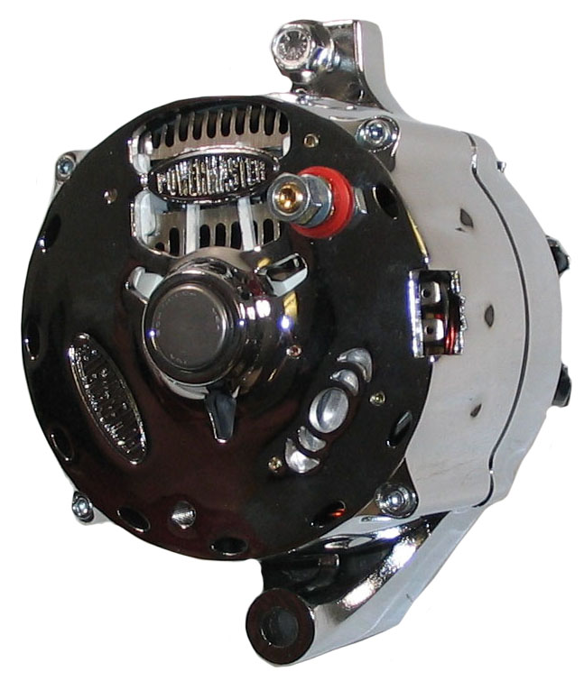 New Powermaster Alternator Chrome Serpentine 140amp Ford Mustang T