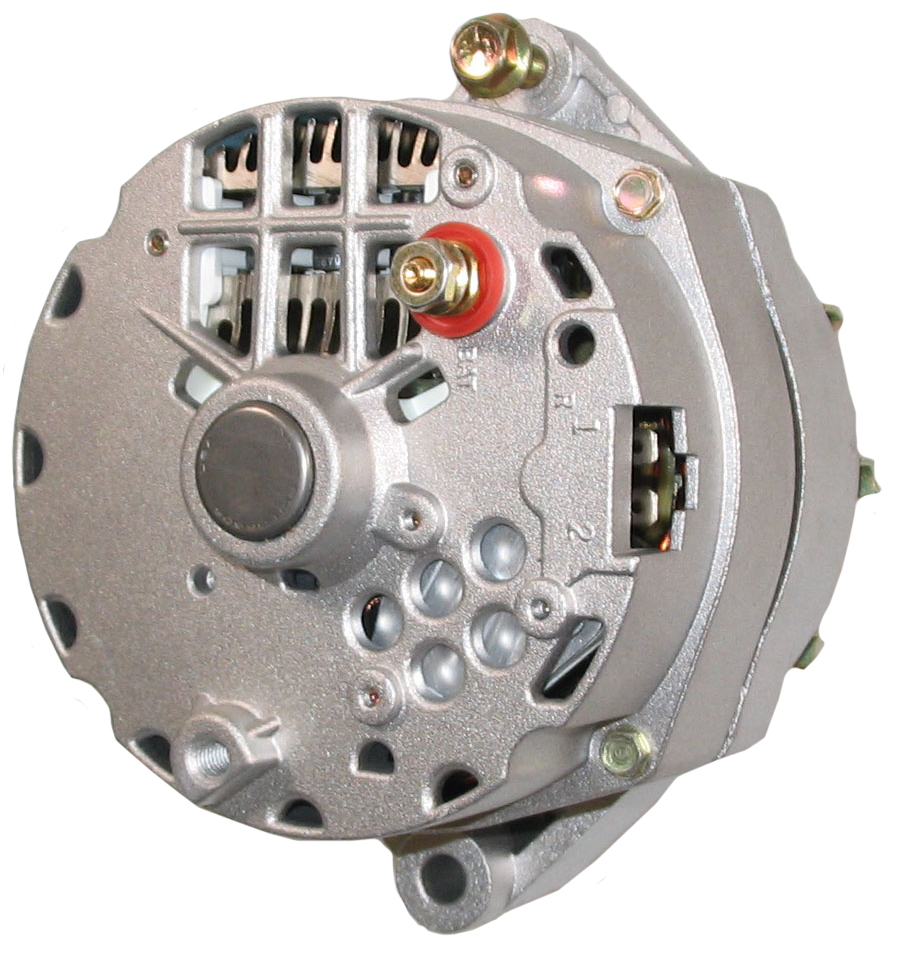 chevy 350 alternator location