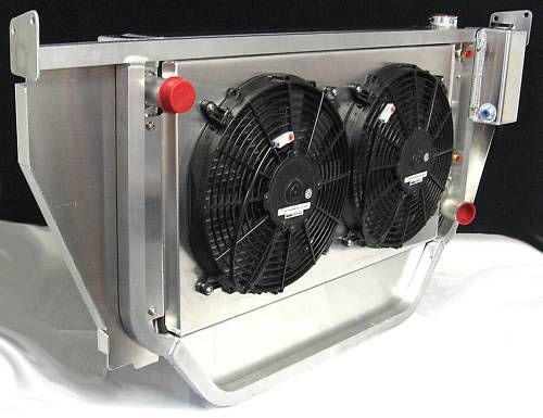 saldana 55 56 chevy radiator   core support electric fans transmission cooler ebay