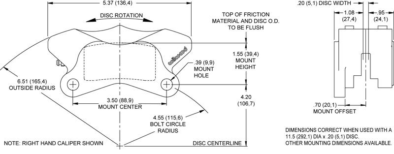 wilwood 84 99 harley davidson brake caliper rotor set. Black Bedroom Furniture Sets. Home Design Ideas