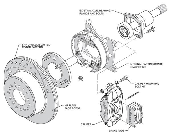 wilwood disc brake kit 65 68 impala 12 drilled rotors 4 piston rh ebay com Ford Front Disc Brake Diagram 105 Brake Diagram for White