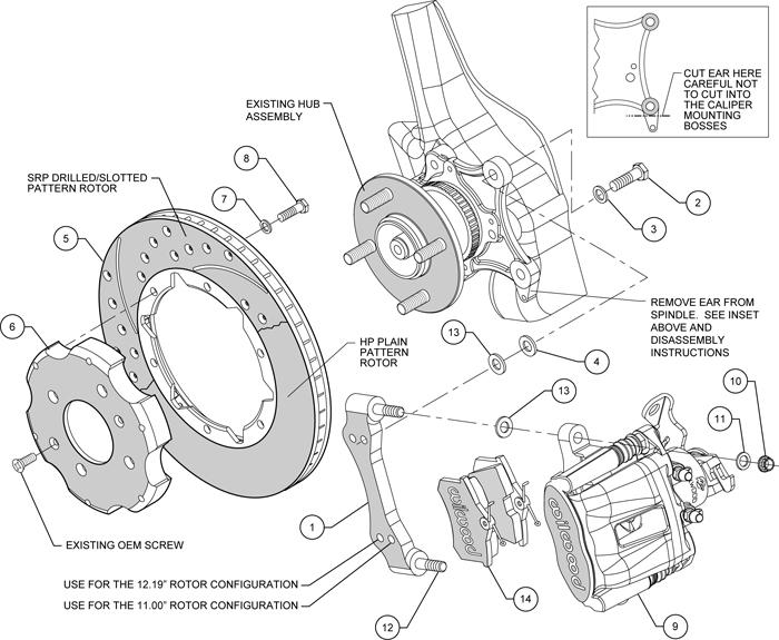 Brake Rotor And Caliper Diagram : Wilwood disc brake kit honda civic crx mm quot rotors