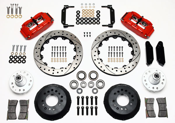 Wilwood Disc Brake Kit Front 68 69 Ford Mercury 13 Drilled Rotors Red