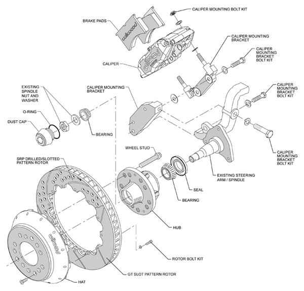 Wilwood Disc Brake Kit 70 12 U0026quot  Rotors