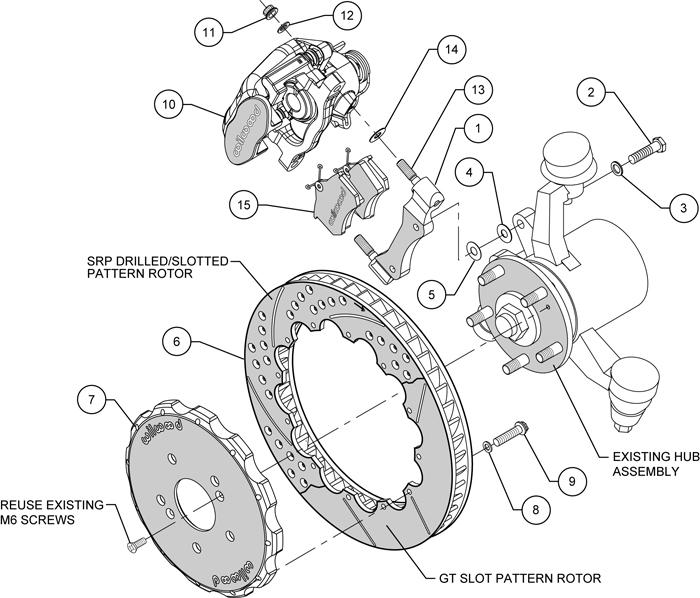 wilwood disc brake kit rear 00