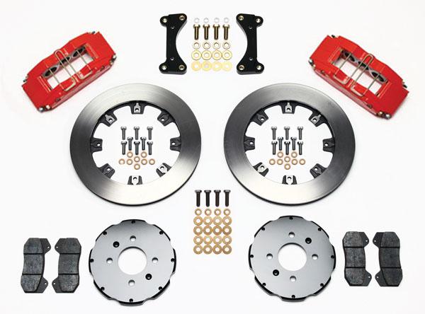 Wilwood Disc Brake Kit Honda Civic 10735 10207 12 Rotors Red Cal 6