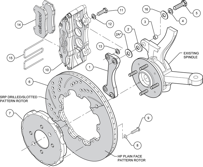 wilwood disc brake kit,honda civic,10735,10211,12