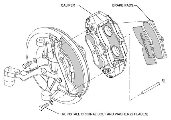 wilwood caliper pad  u0026 line kit fr 65