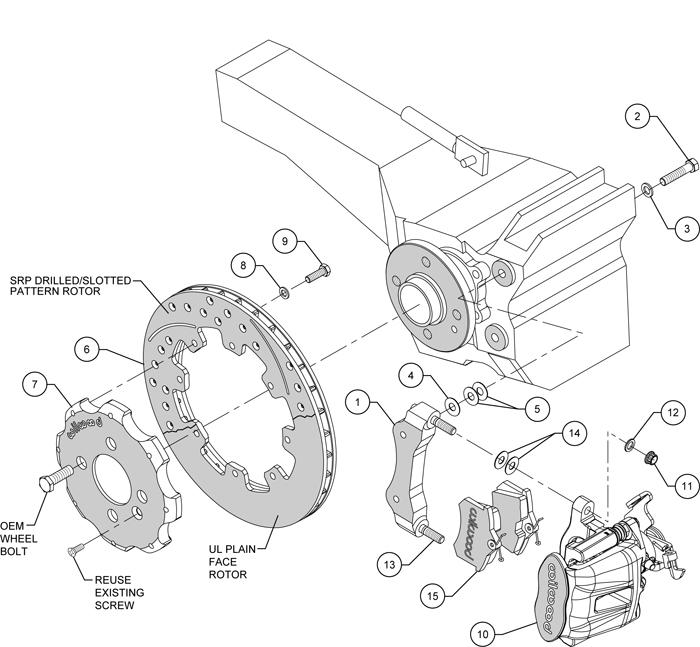 Wilwood Disc Brake Kit Mini 11 75 U0026quot  Drilled
