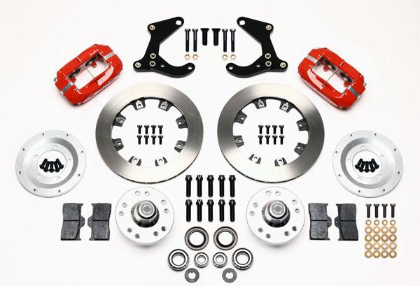 Wilwood Disc Brake Kit Front 59 64 Impala 11 75 Rotors Red Calipers