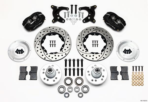 Wilwood Disc Brake Kit Front 65 72 Dodge Dart 10 Drum Black Calipers