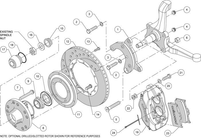 Wilwood Disc Brake Kit Front 65