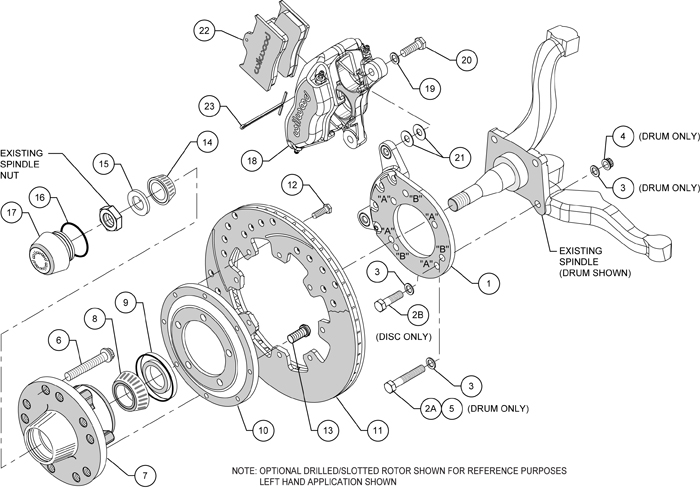 wilwood disc brake kit front 67