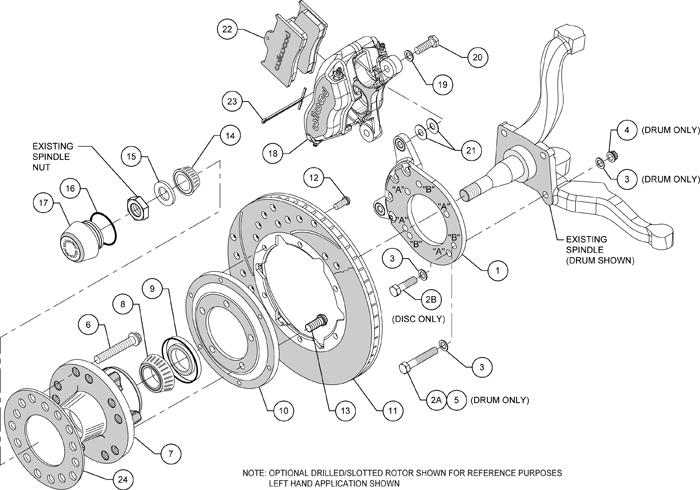 mustang offset diagram
