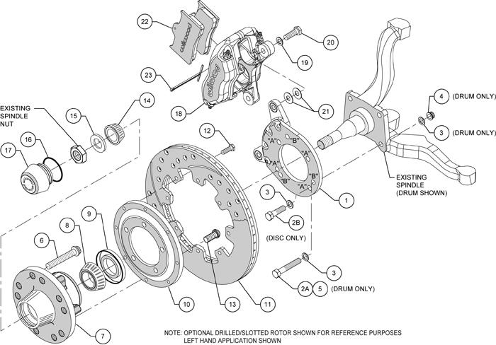 wilwood disc brake kit front 70