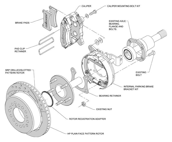 WIL_140 11403Diagram wilwood disc brake kit,65 69 ford mustang,11\