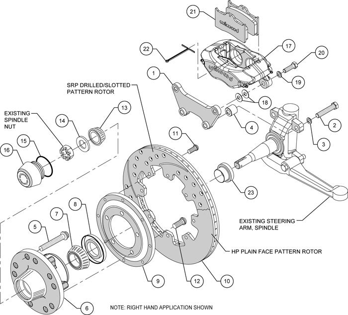wilwood disc brake kit front 49
