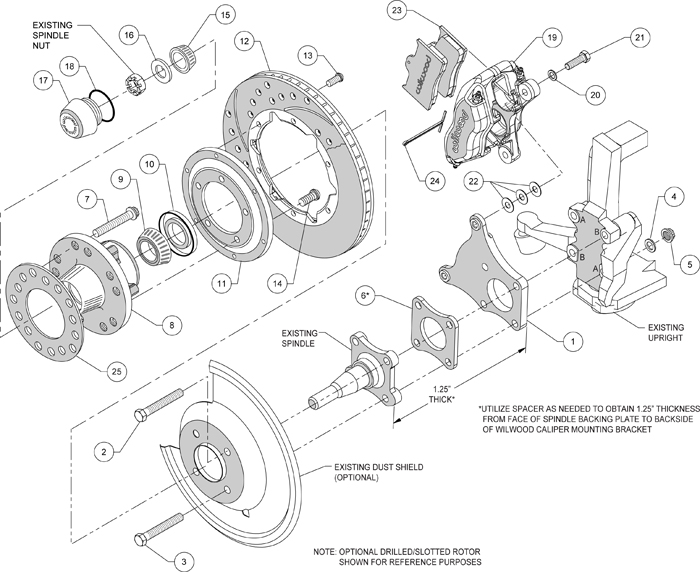 wilwood disc brake kit front 69