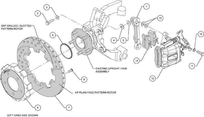 Wilwood Disc Brake Kit 06 12 Honda Civic Si 2 0l 13 12 Rotors Rh Ebay Com  2003 Honda Civic Parts Diagram 2005 Honda Civic Parts Diagram