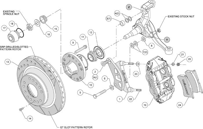 wilwood disc brake kit 64 12 u0026quot  1 piece drilled