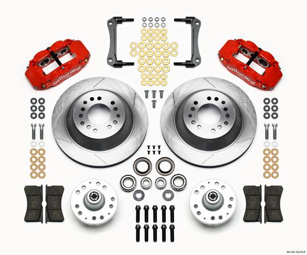 Wilwood Disc Brake Kit 70 78 GM 13 12 1 Piece Rotors 6 4 Piston Red