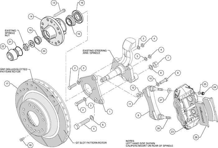 Wilwood Disc Brake Kit 70 Drums 13 U0026quot   12
