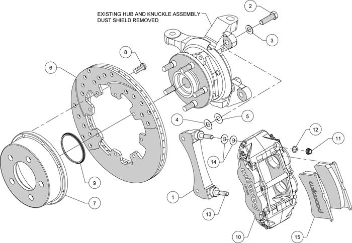 Wilwood Disc Brake Kit Front 84
