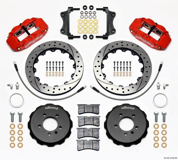 Wilwood Disc Brake Kit Front 05 12 Volkswagen 13 Drilled Rotors Red
