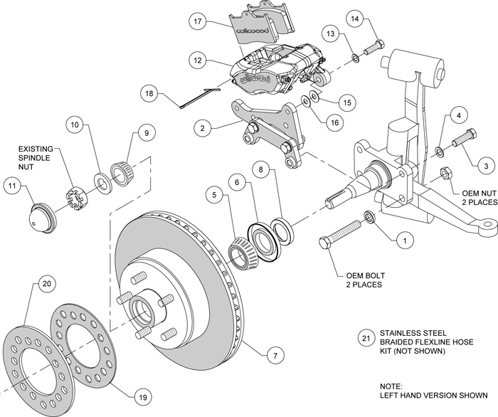 Ford Front Ke Caliper Diagram, Ford, Free Engine Image For
