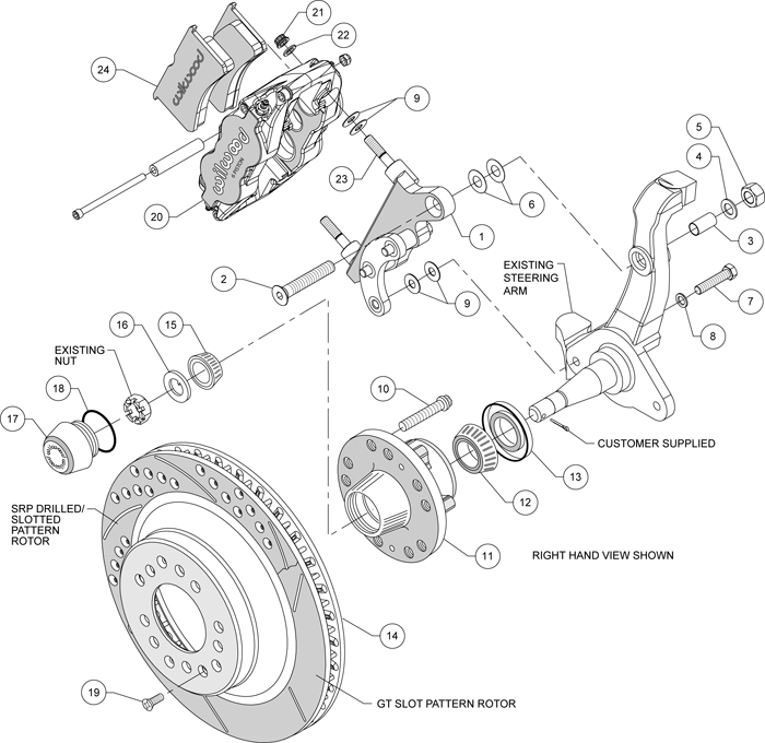 Wilwood Disc Brake Kitfront58 68 Fordmercury13 Rotorsblack