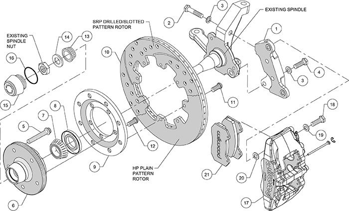 Wilwood Disc Brake Kit Front 74