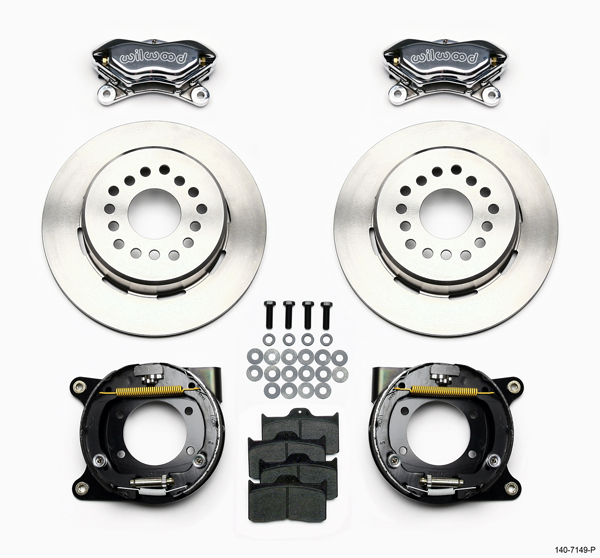 Wilwood Disc Brake Kit 64 74 GM 12 19 Rotors 4 Piston Polished