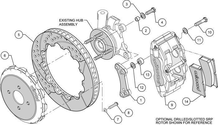 Wilwood Disc Brake Kit Front 00 05 Echo 04 06 Scion XA XB 13 Rotors Red Calipers