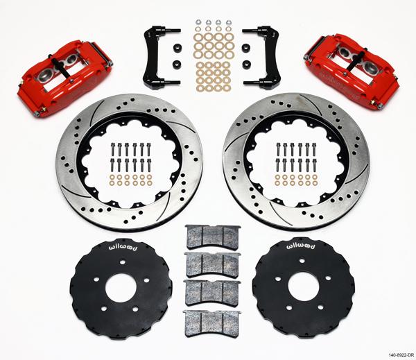 Wilwood Disc Brake Kit 05 09 Corvette C 6 14 Red Drill