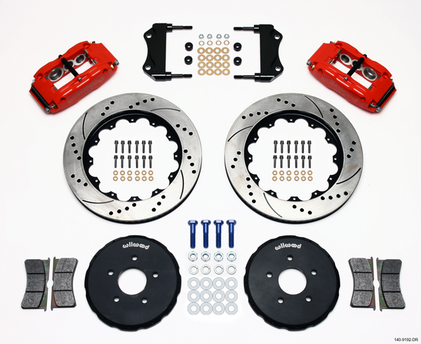 "Wilwood Disc Brake Kit 03 08 Nissan 350Z 03 07 Infiniti G35 14"" 13"" Red Drilled"