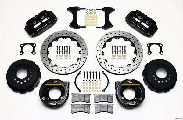 Wilwood Disc Brake Kit Rear Parking Big Ford 2 36 Offset 13 Drilled