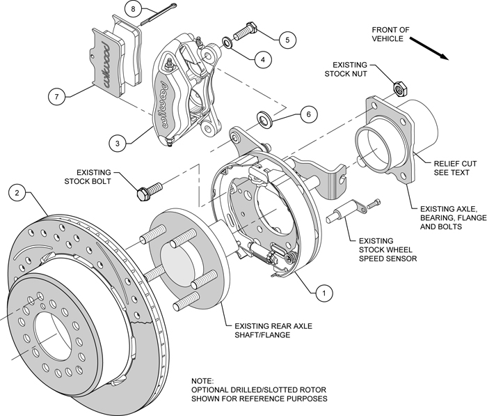 Wilwood Disc Brake Kit Rear Parking 2005