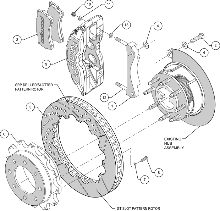 wilwood disc brake kit,rear,chevy silverado,sierra 1500hd,2500,2500hd,4 84,16