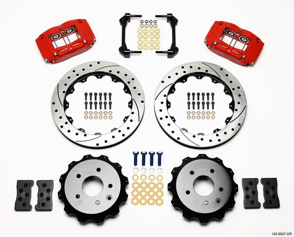 Wilwood Disc Brake Kit 03 08 Infiniti G35 Red Drilled R