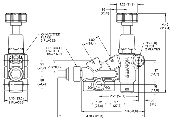 89 chevy brake proportioning valve diagram